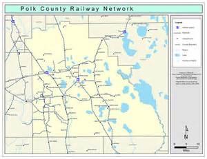 polk city florida map polk county railway network color 2009