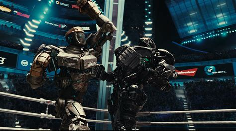 film robot atom quot rocky quot meets rock em sock em robots in quot real steel