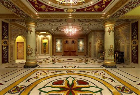 palace interiors artdeco style hotel floor walls ceiling amazing