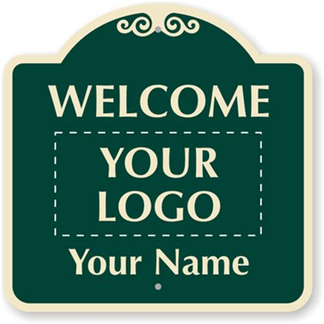 welcome sign template custom welcome signs