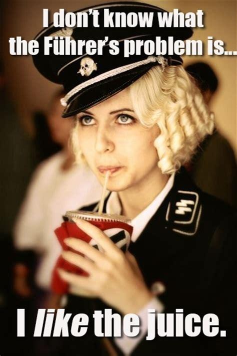 Blonde Meme - introducingoblivious nazi blonde meme guy