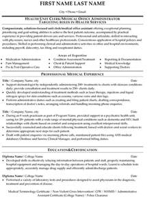 Office Resume Sles by Health Services Management Resume