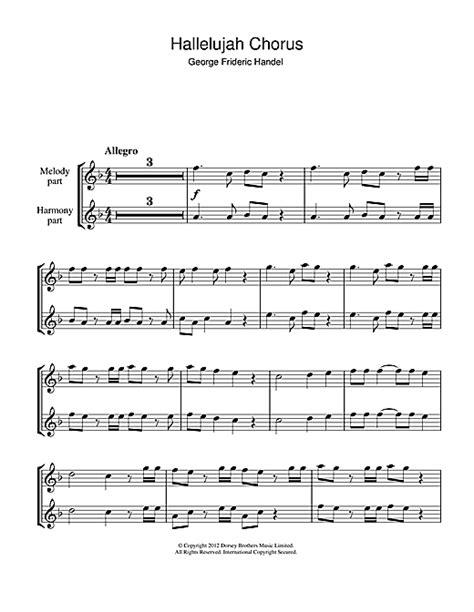 Partition flûte Hallelujah Chorus (from The Messiah) de