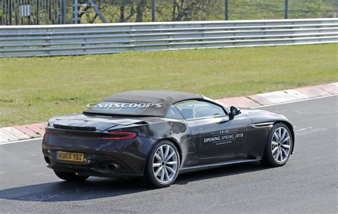 green aston martin db11 aston martin db11 volante busts a move at the ring