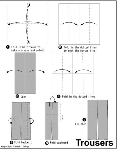 How To Make Origami Trousers - origami tuxedo origami wedding trousers