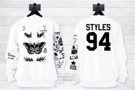 harry styles tattoo crewneck sweatshirt harry style tattoo sweatshirt sweater crew neck shirt add