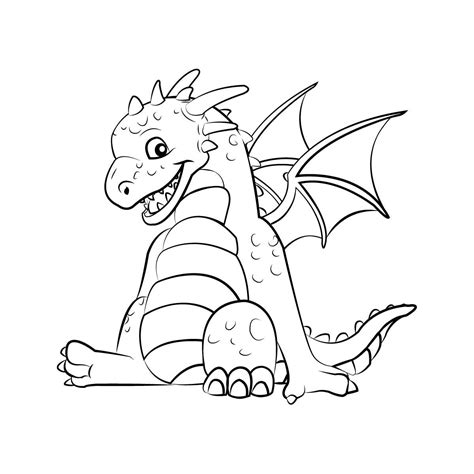 coloring pages of cute dragons dragon coloring pages 360coloringpages