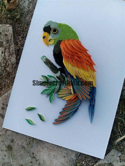 How To Make Parrot With Craft Paper - how to make a beautiful rainbow parrot simple craft ideas