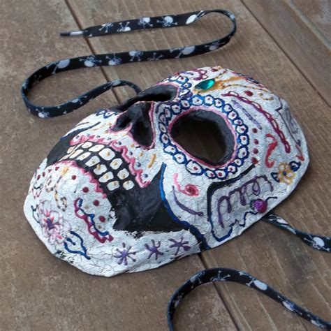 How To Make A Paper Mache Skull Mask - all things crafty sugar skull paper mache mask