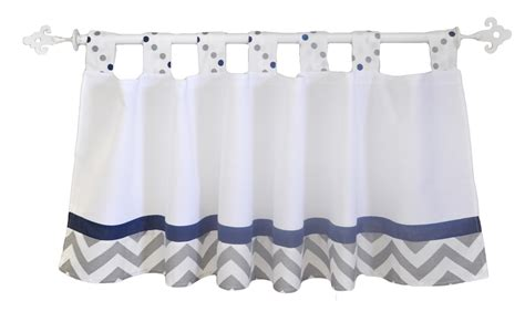 Navy And Gray Curtain Valance Nursery Curtain Valance Nursery Valance Curtains