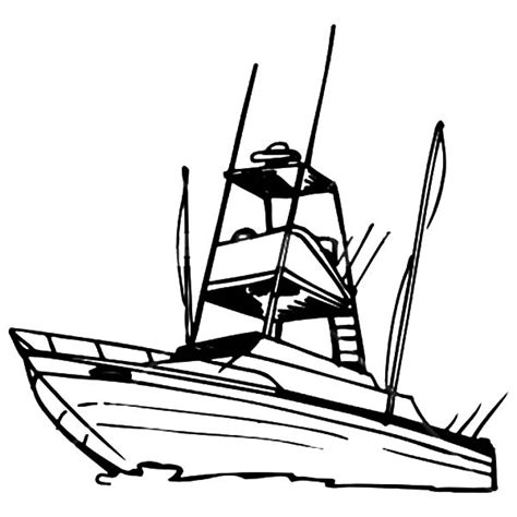 boat outline picture boat pictures to color clipart best