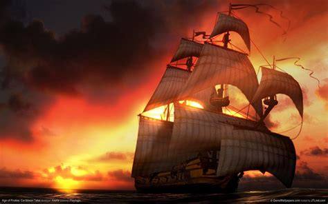 untamed sunset in the caribbean hd wallpaper hd wallpapers pirates of the caribbean wallpapers wallpaper cave