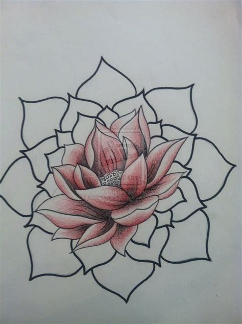 lotus tattoo design my style on lotus and
