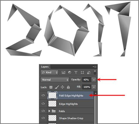 Photoshop Folded Paper Effect - create an easy folded paper text effect in photoshop