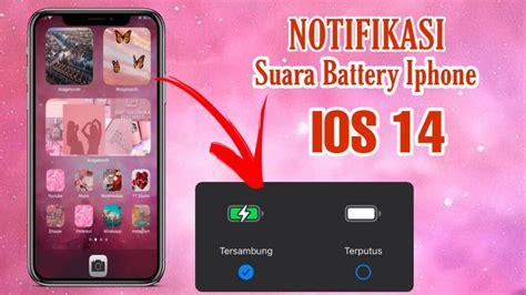 membuat notifikasi suara battery iphone ios