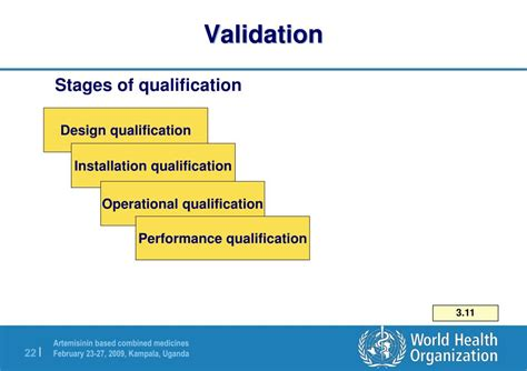 design validation routines ppt equipment and its qualification powerpoint