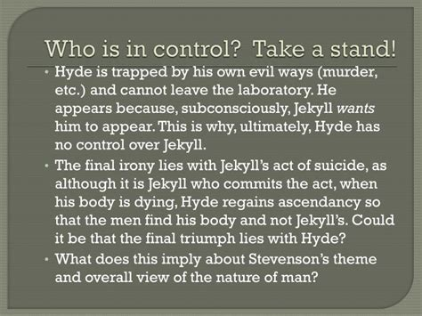 themes in jekyll and hyde ppt ppt jekyll and hyde chapters 9 and 10 powerpoint