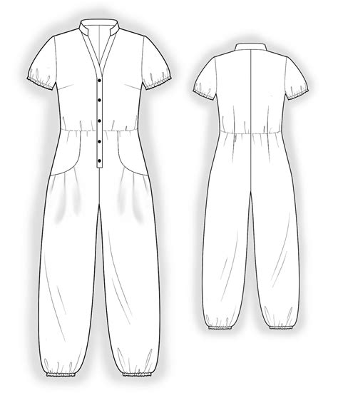pattern jumpsuit free jumpsuit with decorative pockets sewing pattern 4044