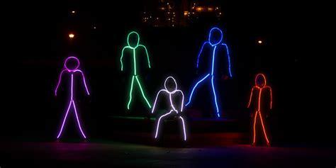 led stick figure costumes glowy zoey