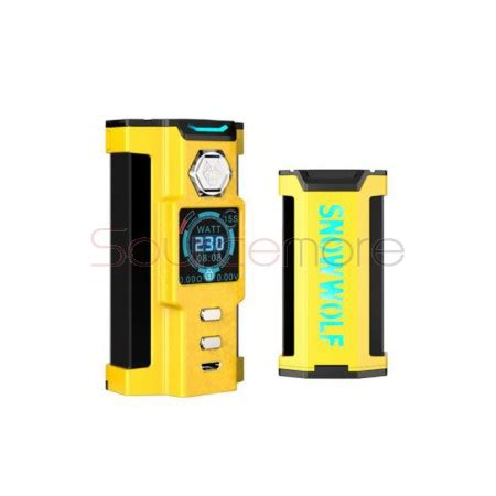 sigelei snowwolf vfeng 230w mod powered by dual 18650