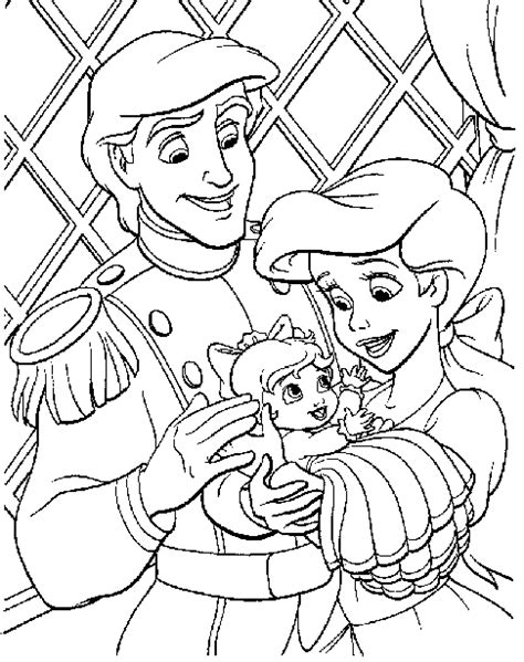 mermaid family coloring page irislancery free printable coloring pages ariel 2015