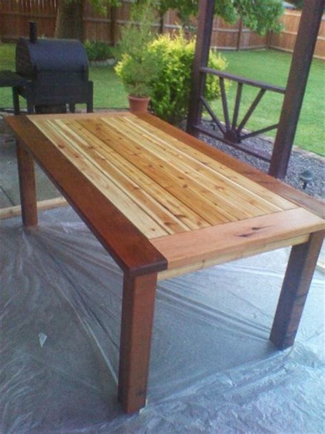 Cedar Patio Table Wood Work Cedar Outdoor Dining Table Plans Pdf Plans