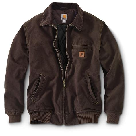 carhartt jacket carhartt bankston flannel lined duck work jacket 607660 insulated jackets coats