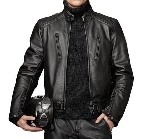 Jaket Motor Kulit Simple Model Hitam model jaket kulit motor terbaru