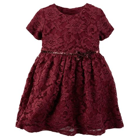 carters newborn 3 6 9 12 18 24 months lace dress baby clothes dressy ebay