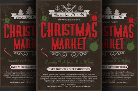 christmas event flyer poster flyer templates on creative