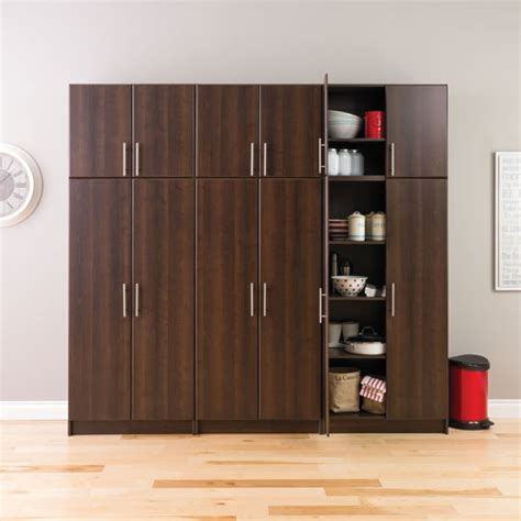 elite multimedia storage cabinet elite traditional 65 quot 4 shelf storage cabinet espresso