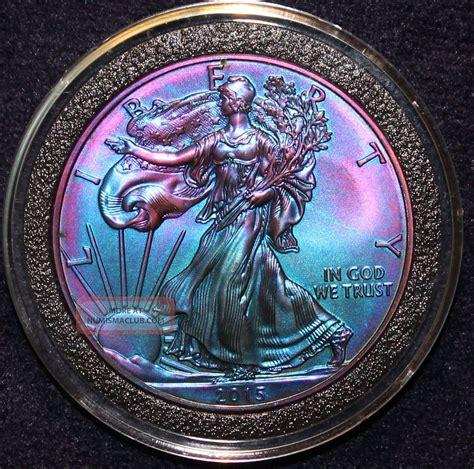 1 Oz Silver American Eagle 2015 - 2015 american silver eagle rainbow toned 999 bullion 1oz