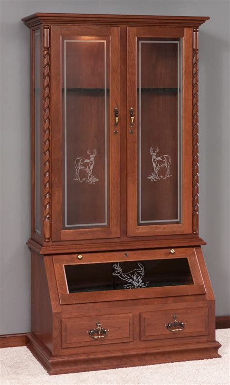 wood and glass gun cabinet glass door gun cabinet with twist