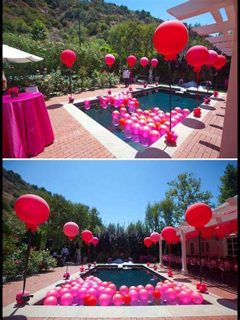 pool party  balloons summer pool party luau party