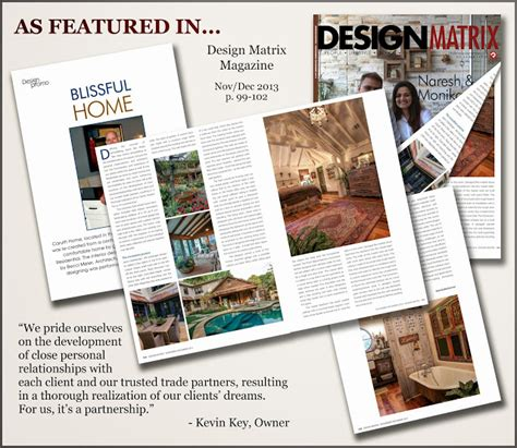 Design Matrix Magazine   key residential featured in design matrix magazine key