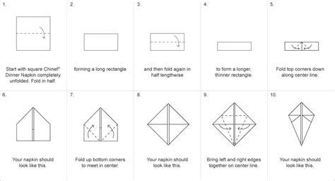 Paper Napkin Folding Directions - bunny napkin fold easter napkin folds chinet 174