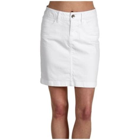 esprit solid stretch denim skirt white apparel