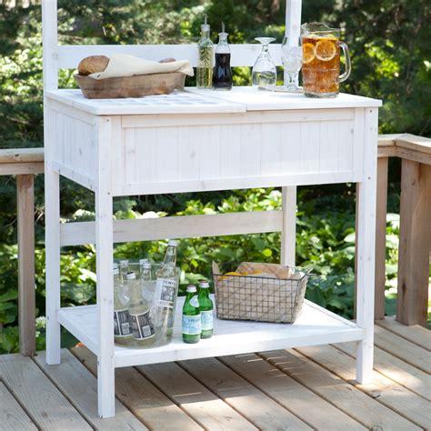 white potting bench white potting bench home gardening station with storage