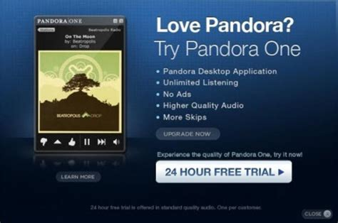 pandora one free android pandora one desktop app