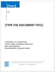 proposal templates microsoft word templates
