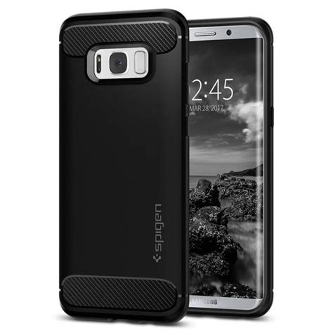 Samsung Galaxy S8 Plus Rugged Armor Soft Back Cover galaxy s8 plus genuine spigen rugged armor resilient