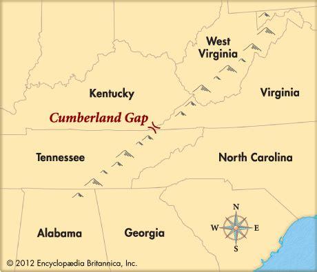 kentucky map cumberland gap cumberland gap location encyclopedia children s