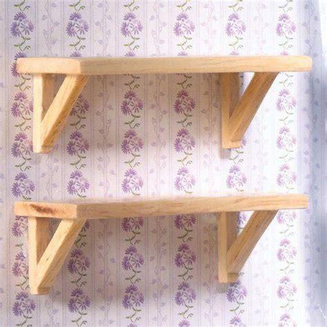 dolls house emporium  small pine wall shelves