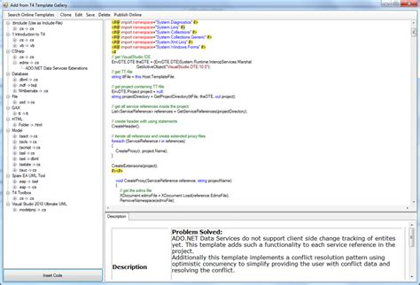 t4 template series model driven development with t4 templates