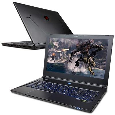cyberpower fangbook edge is a thin gaming notebook with 4k