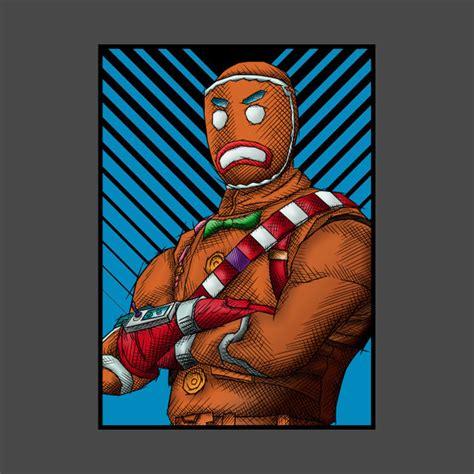 gingerbread fortnite merry marauder  shirt
