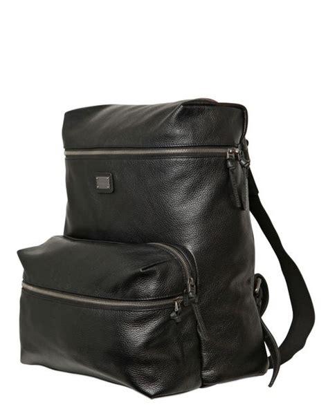 Deer Print Backpack dolce gabbana deer print leather backpack in black for