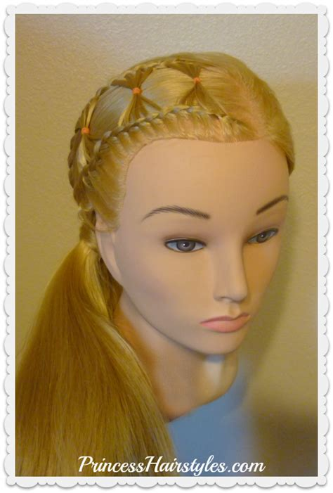 princess hairstyles braided headband with jewels bow tie braid braided hairstyle for long hair