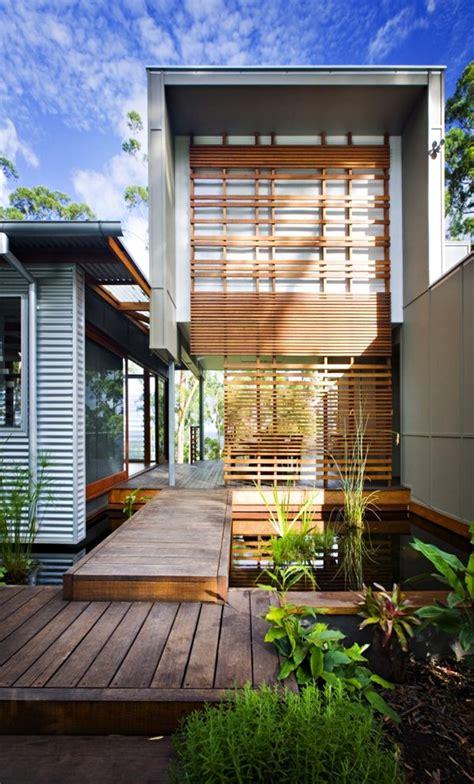 madison house modern minimal and sustainable home พ นไม ระแนง ตกแต งทางเด นพ นไม ในสวน 171 บ านไอเด ย