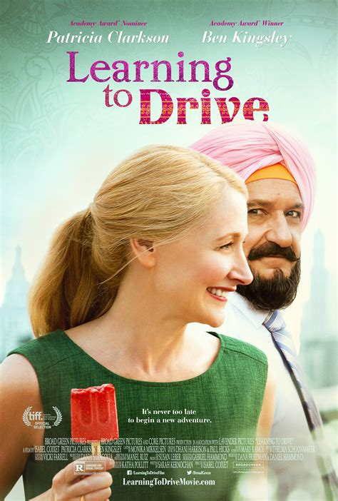 drive character posters collider learning to drive trailer features ben kingsley patricia
